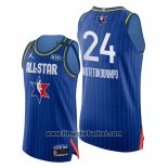 Maglia All Star 2020 Bucks Giannis Antetokounmpo No 24 Blu