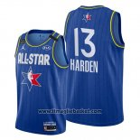 Maglia All Star 2020 Houston Rockets James Harden No 13 Blu