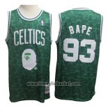 Maglia Boston Celtics Bape No 93 Hardwood Classic Verde