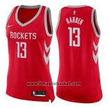 Maglia Donna Houston Rockets James Harden No 13 Icon 2017-18 Rosso