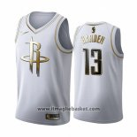 Maglia Golden Edition Houston Rockets James Harden No 13 2019-20 Bianco