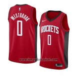 Maglia Houston Rockets Russell Westbrook No 0 Icon 2019-20 Rosso